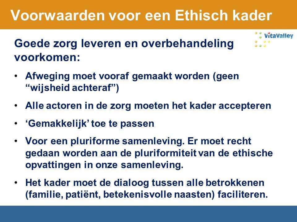 Voorwaarden voor een Ethisch kader