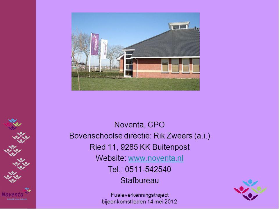 Bovenschoolse directie: Rik Zweers (a.i.) Ried 11, 9285 KK Buitenpost