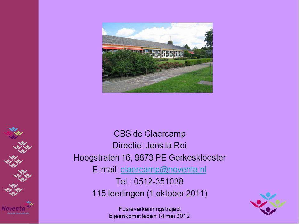 Hoogstraten 16, 9873 PE Gerkesklooster E-mail: claercamp@noventa.nl