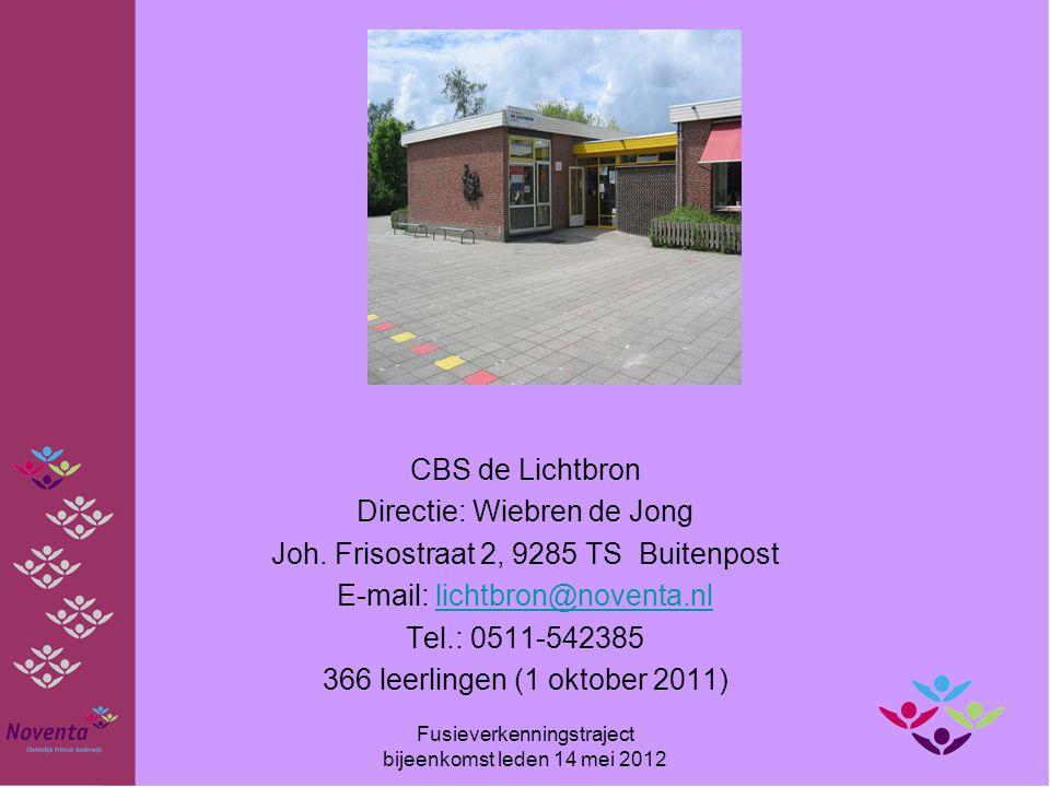 Directie: Wiebren de Jong Joh. Frisostraat 2, 9285 TS Buitenpost