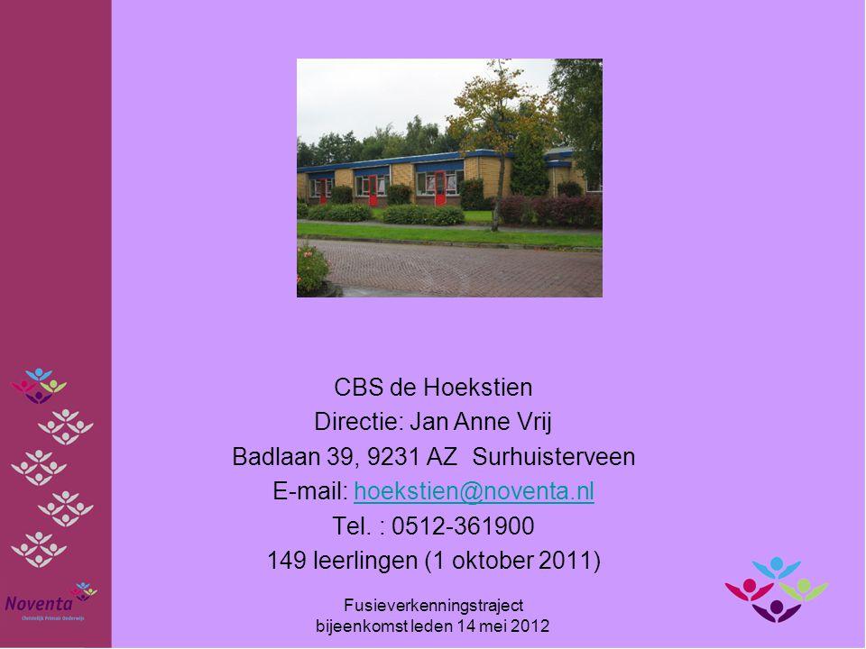 Directie: Jan Anne Vrij Badlaan 39, 9231 AZ Surhuisterveen