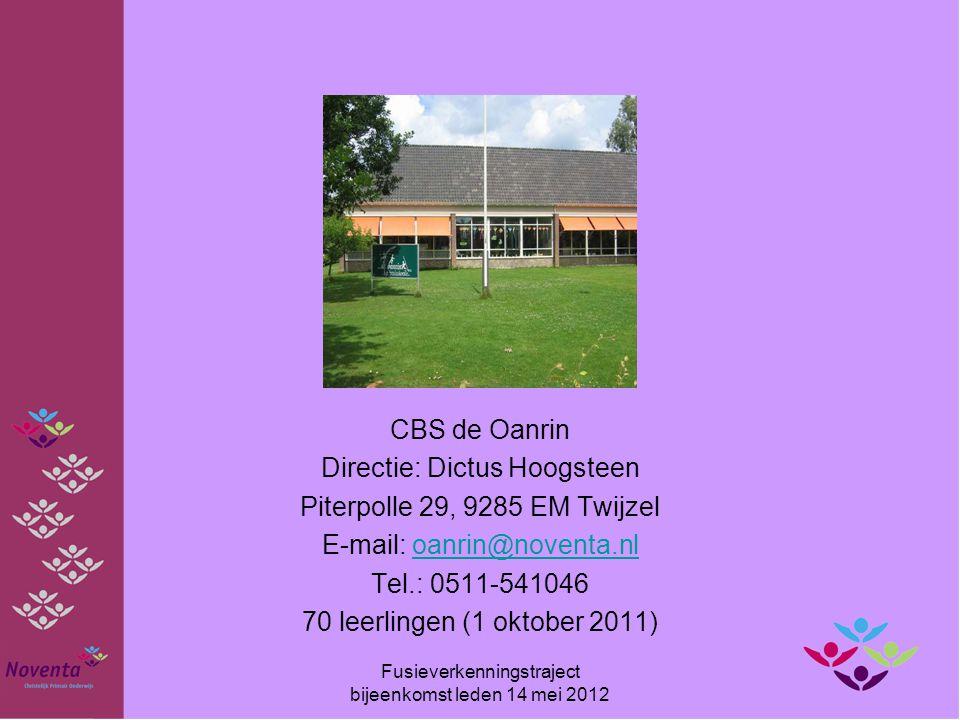 Directie: Dictus Hoogsteen Piterpolle 29, 9285 EM Twijzel