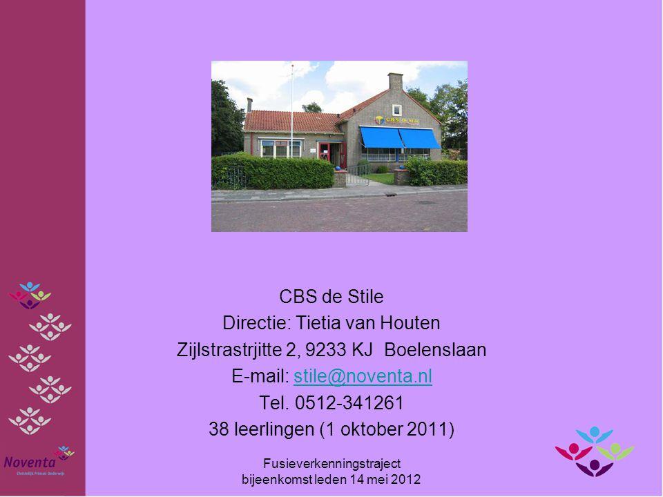 Directie: Tietia van Houten Zijlstrastrjitte 2, 9233 KJ Boelenslaan
