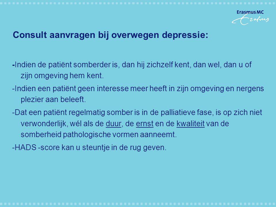 Consult aanvragen bij overwegen depressie: