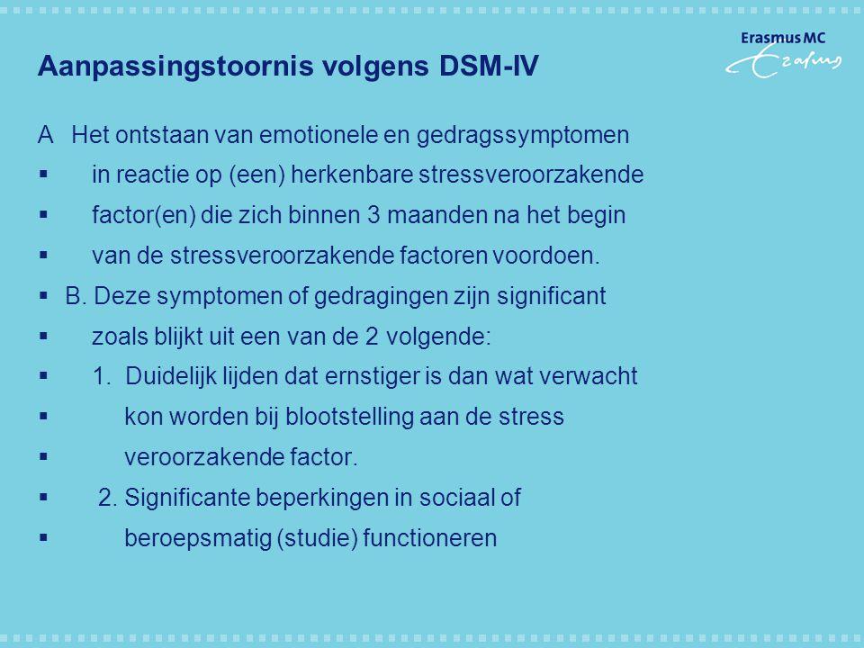 Aanpassingstoornis volgens DSM-IV