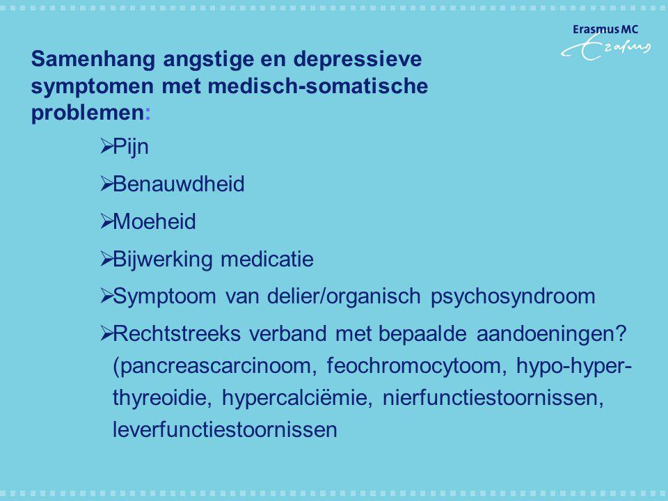 Samenhang angstige en depressieve symptomen met medisch-somatische problemen: