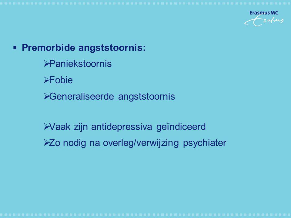 Premorbide angststoornis: