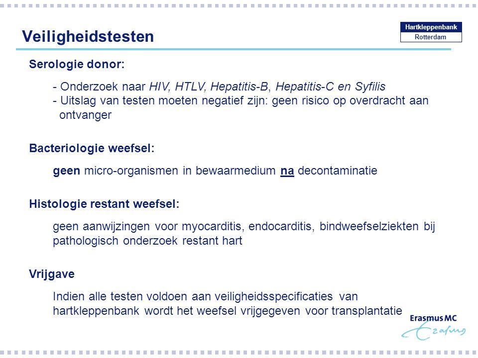 Veiligheidstesten Serologie donor: