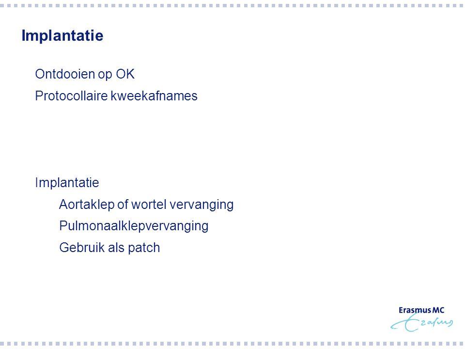 Implantatie Ontdooien op OK Protocollaire kweekafnames Implantatie