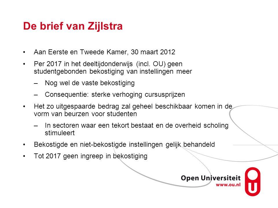 De brief van Zijlstra Aan Eerste en Tweede Kamer, 30 maart 2012