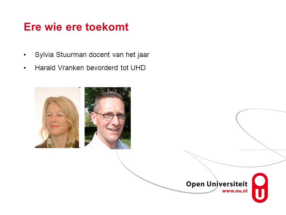 Ere wie ere toekomt Sylvia Stuurman docent van het jaar