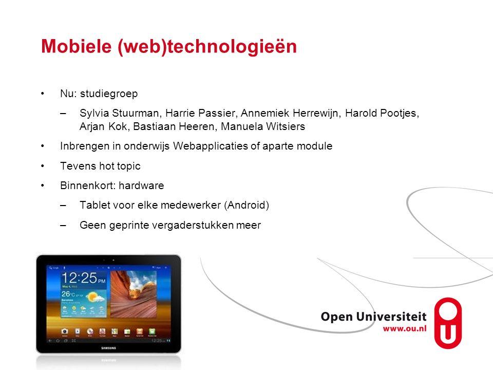 Mobiele (web)technologieën