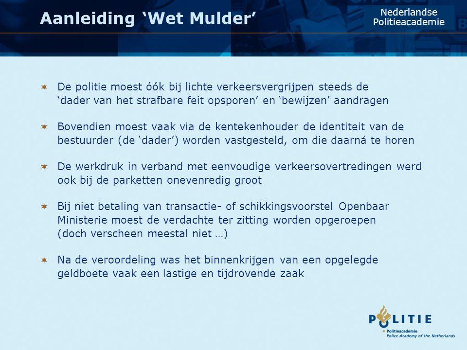 Aanleiding 'Wet Mulder'