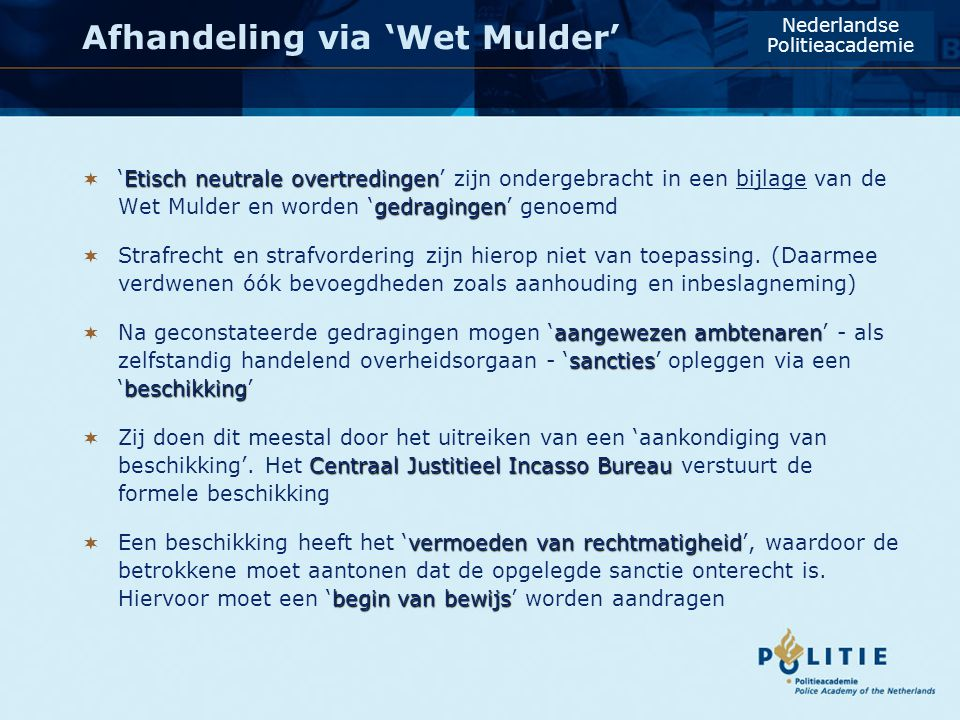 Afhandeling via 'Wet Mulder'