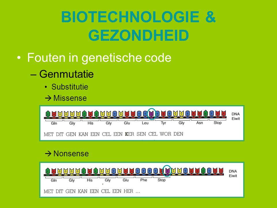 BIOTECHNOLOGIE & GEZONDHEID