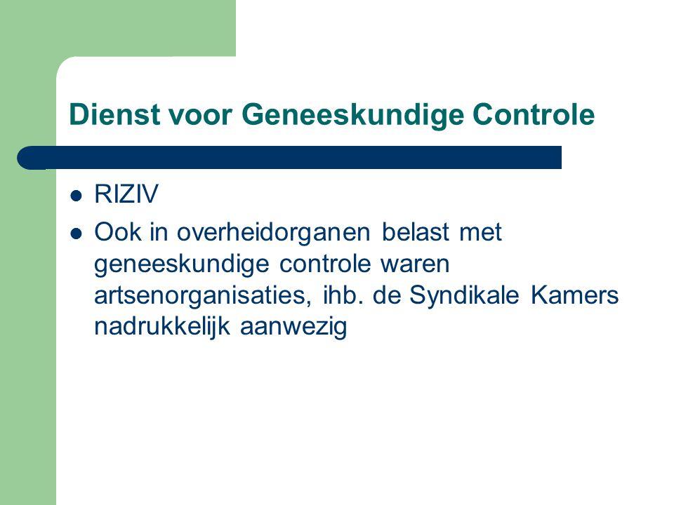 Dienst voor Geneeskundige Controle