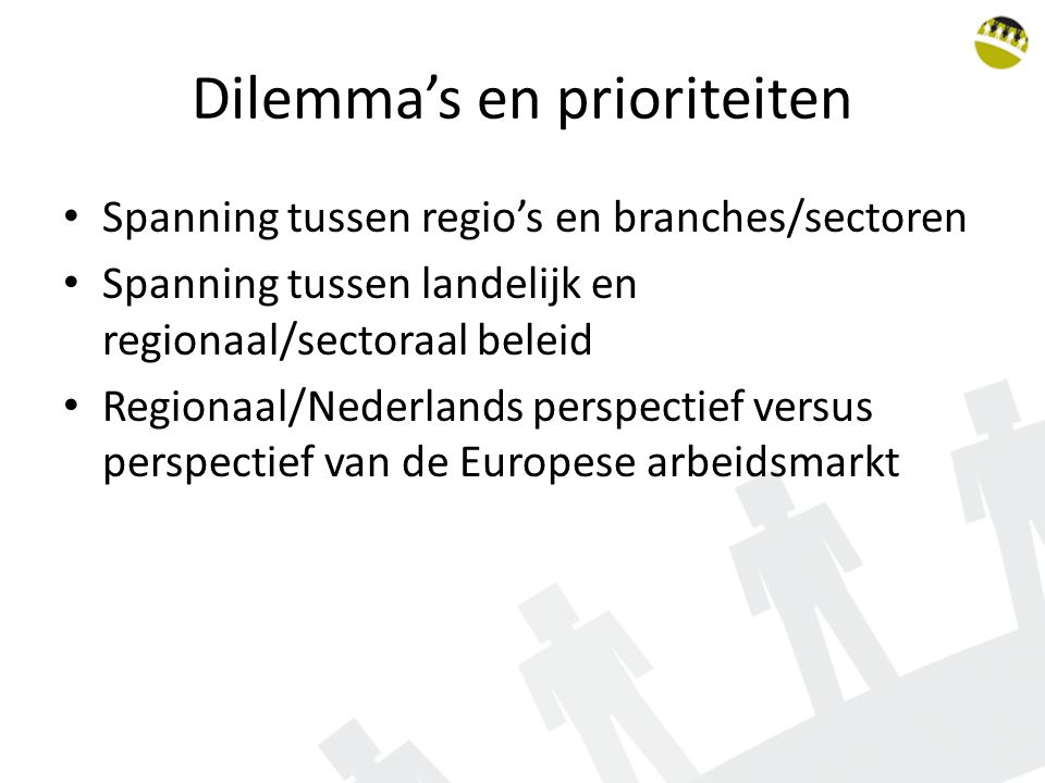 Dilemma's en prioriteiten