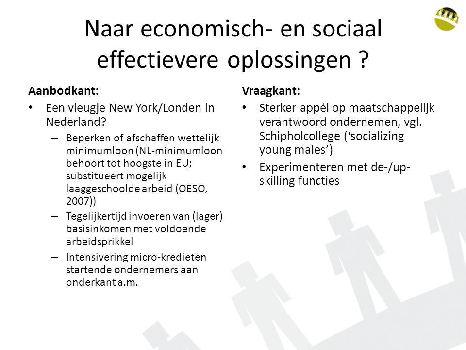 Naar economisch- en sociaal effectievere oplossingen