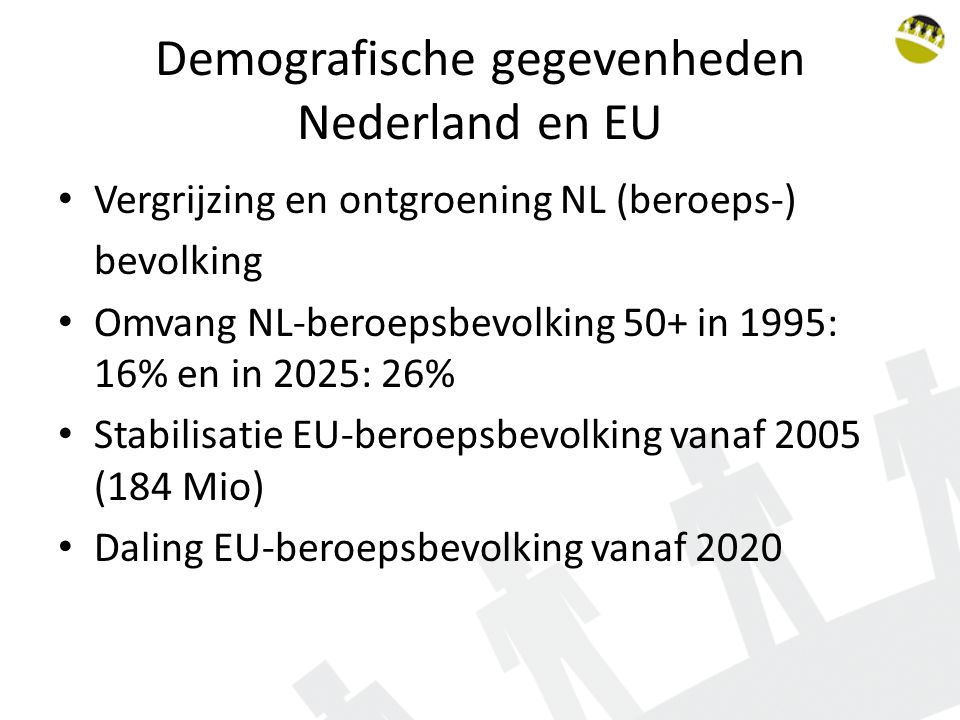 Demografische gegevenheden Nederland en EU