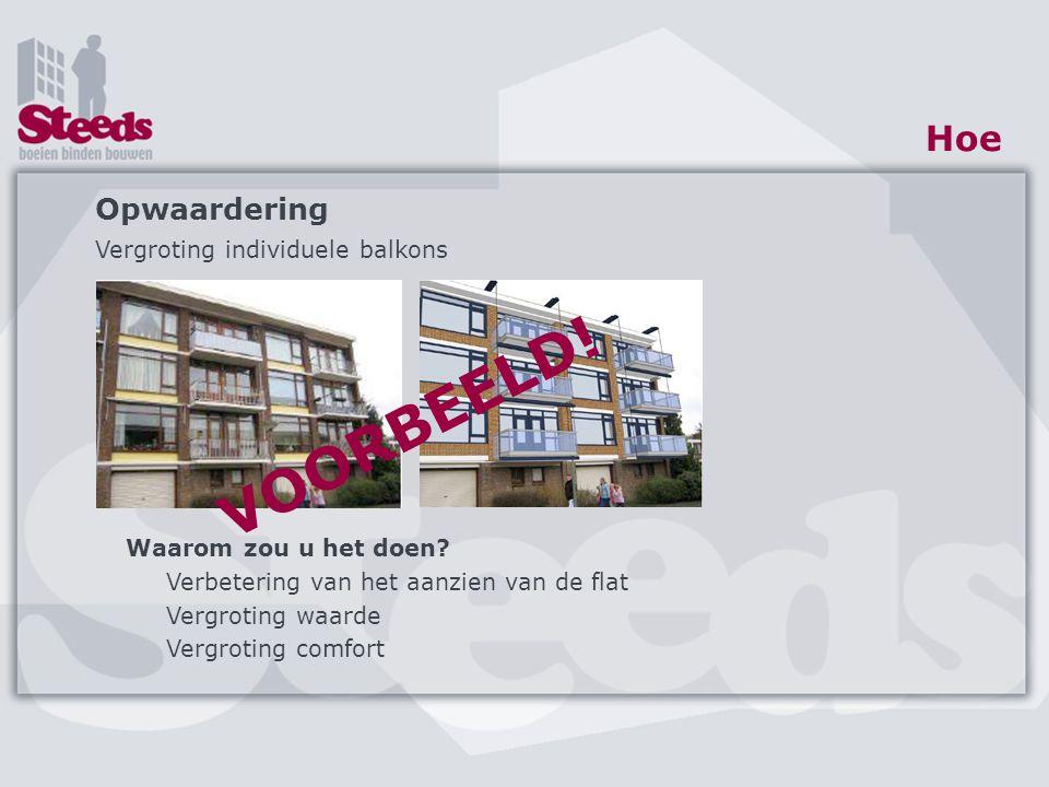 VOORBEELD! Hoe Opwaardering Vergroting individuele balkons