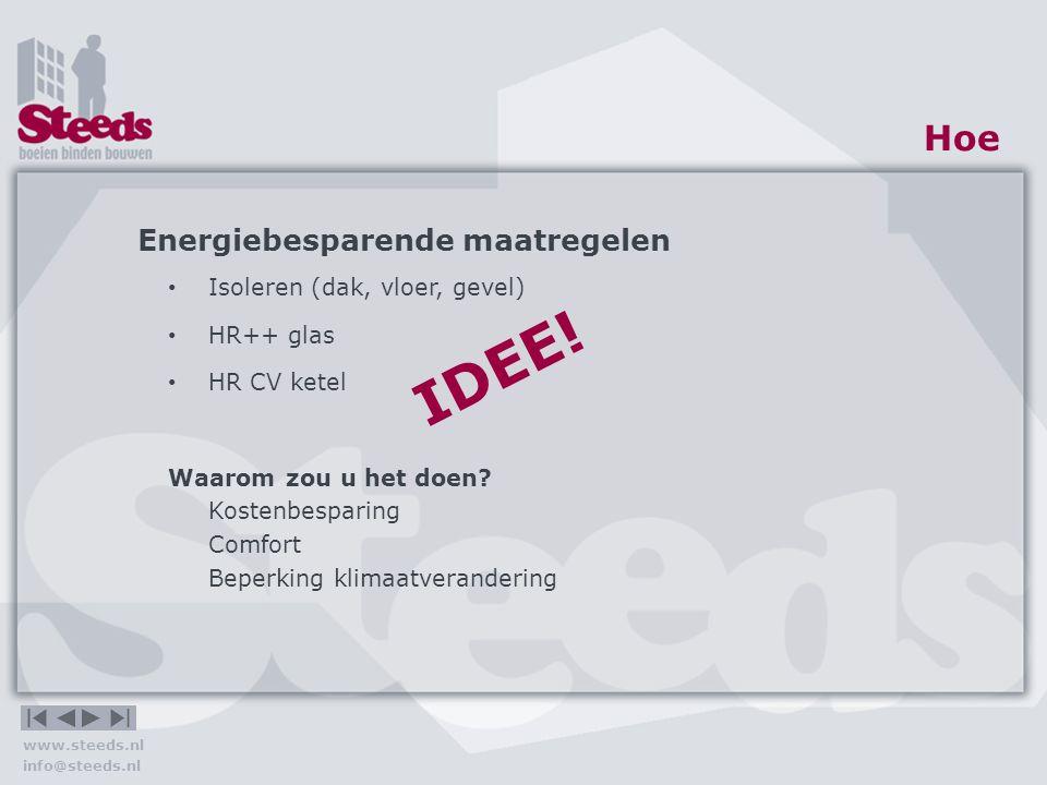 IDEE! Hoe Energiebesparende maatregelen Isoleren (dak, vloer, gevel)