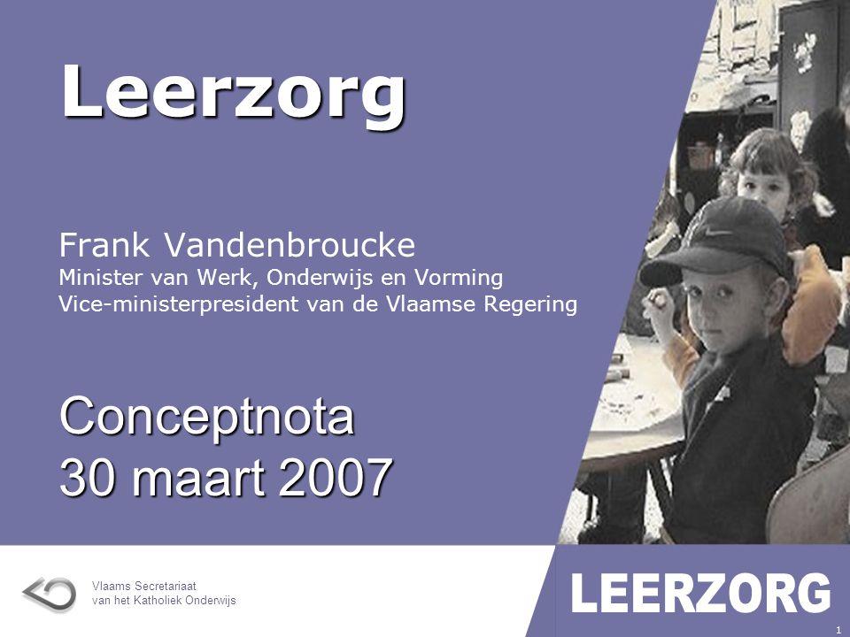 Leerzorg Conceptnota 30 maart 2007 Frank Vandenbroucke