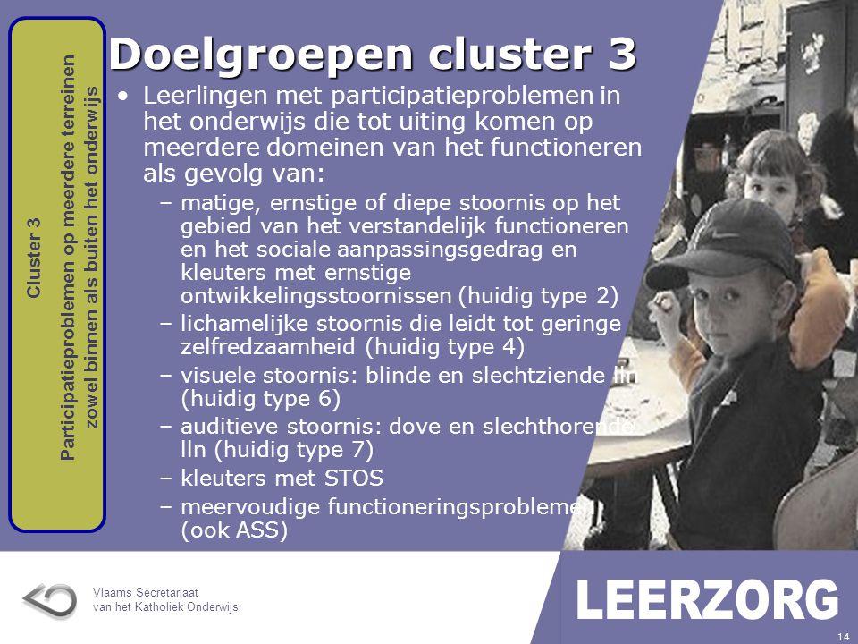Doelgroepen cluster 3