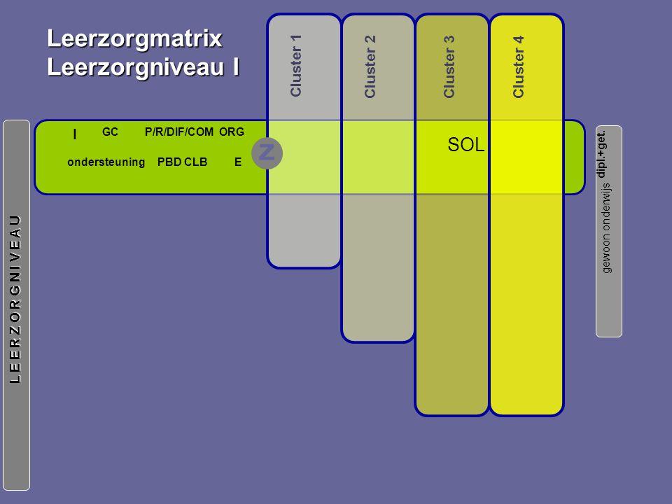 Leerzorgmatrix Leerzorgniveau I