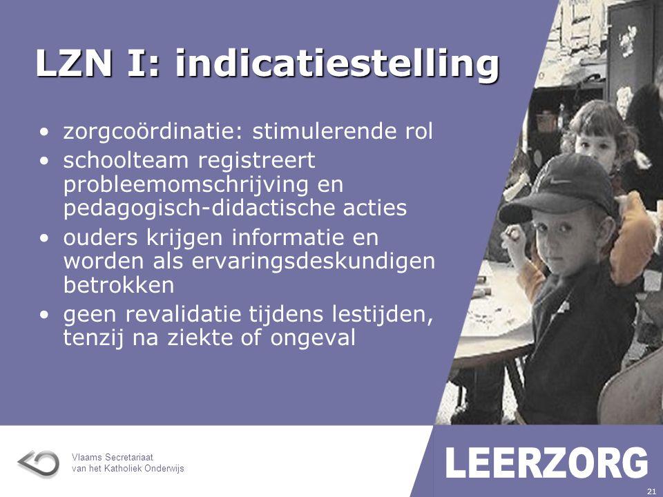LZN I: indicatiestelling