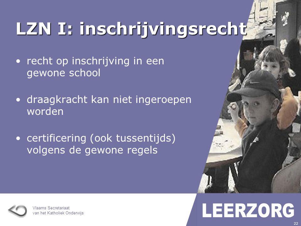 LZN I: inschrijvingsrecht