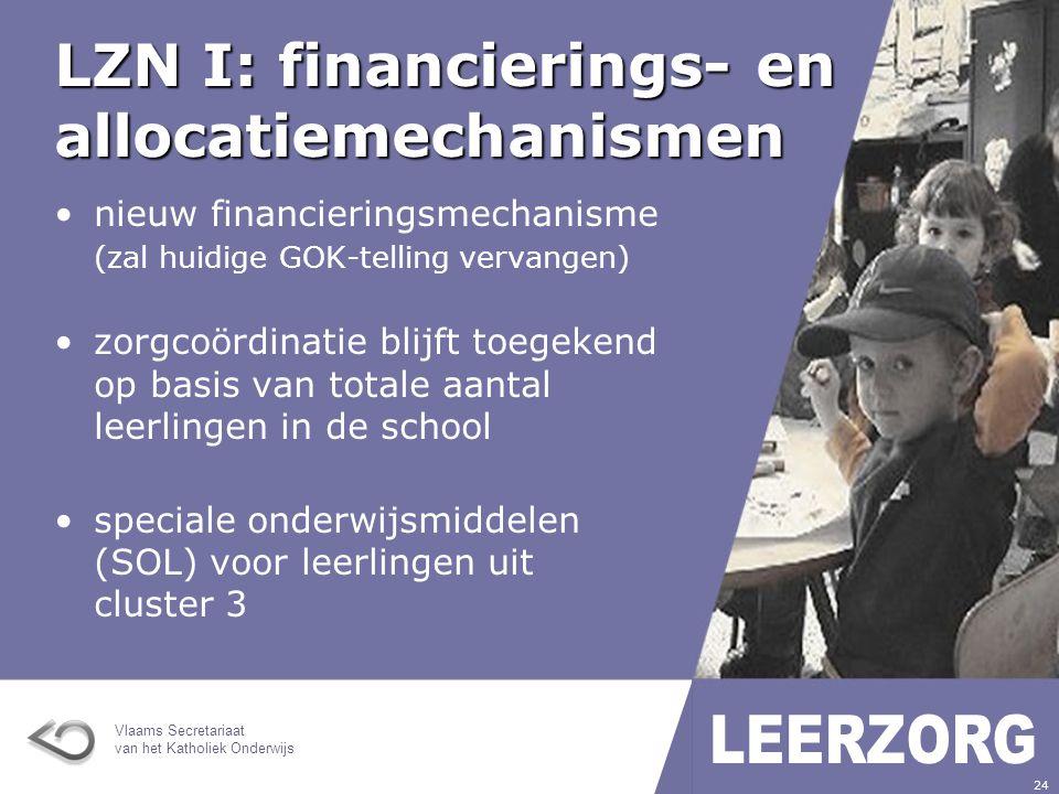 LZN I: financierings- en allocatiemechanismen