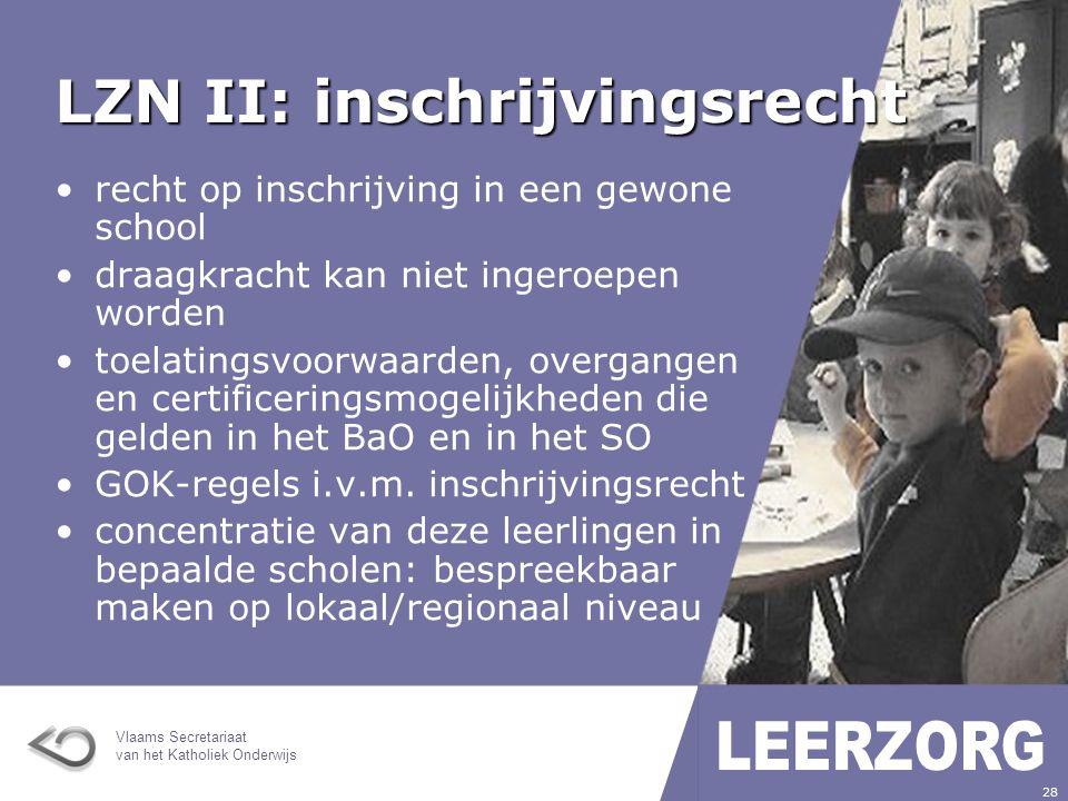 LZN II: inschrijvingsrecht