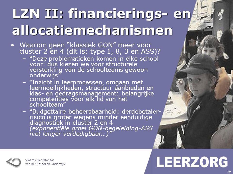 LZN II: financierings- en allocatiemechanismen