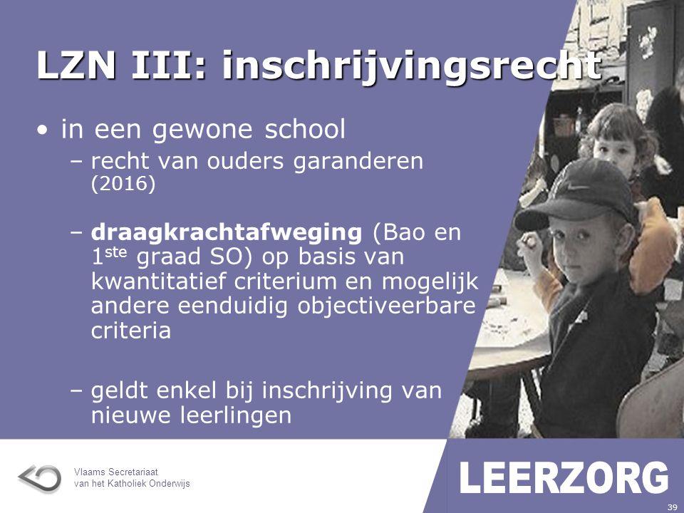 LZN III: inschrijvingsrecht
