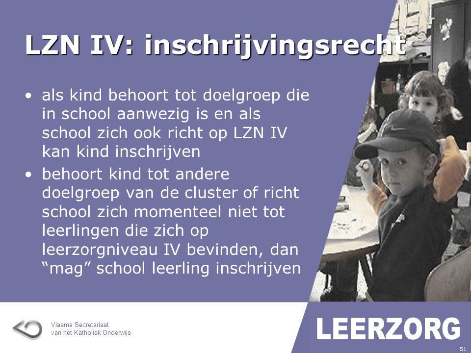 LZN IV: inschrijvingsrecht