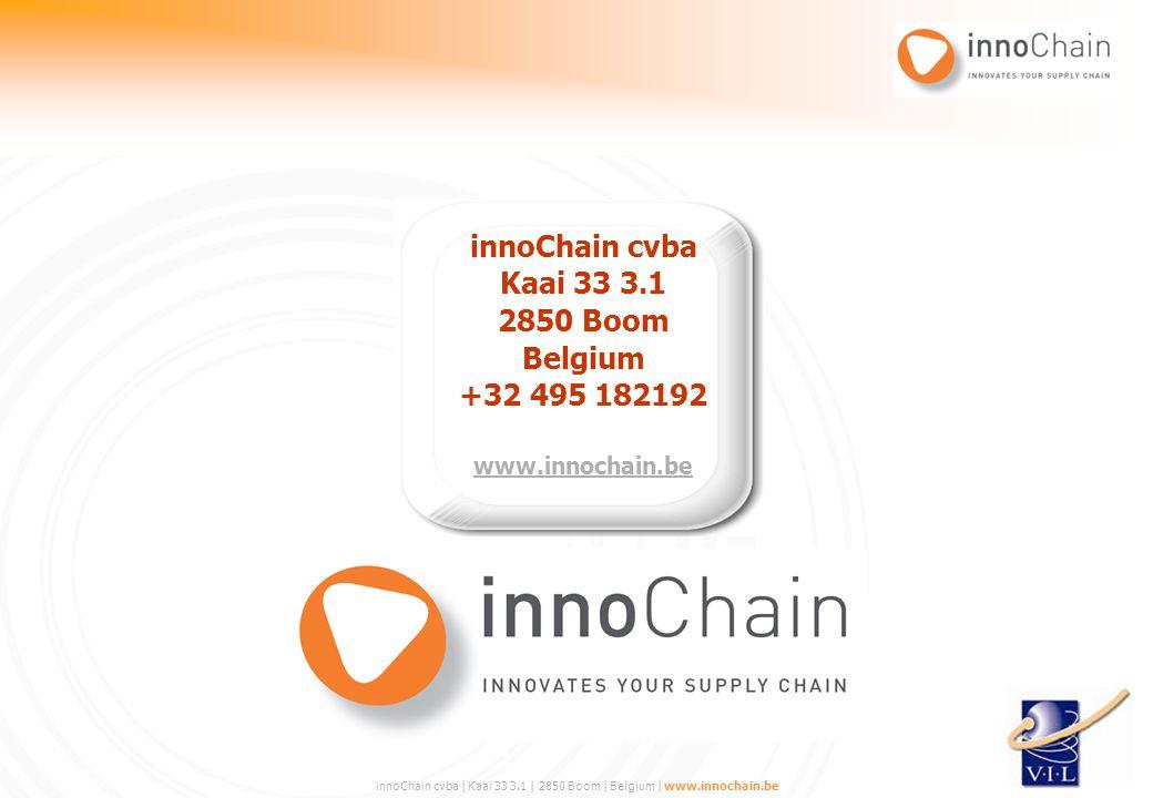 innoChain cvba Kaai 33 3.1 2850 Boom Belgium +32 495 182192