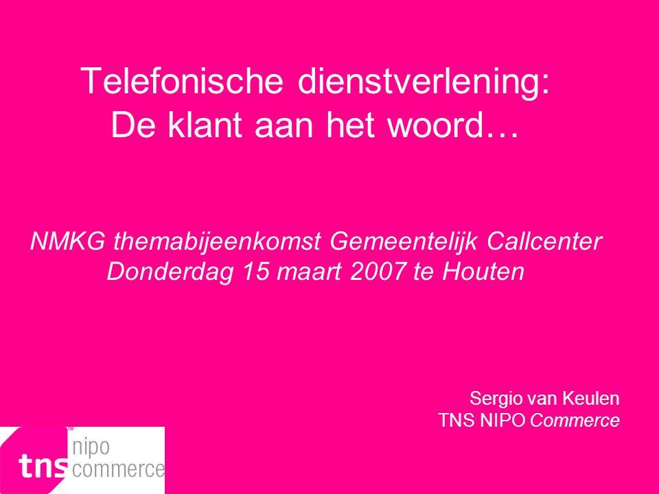 © Sergio van Keulen, TNS NIPO Commerce