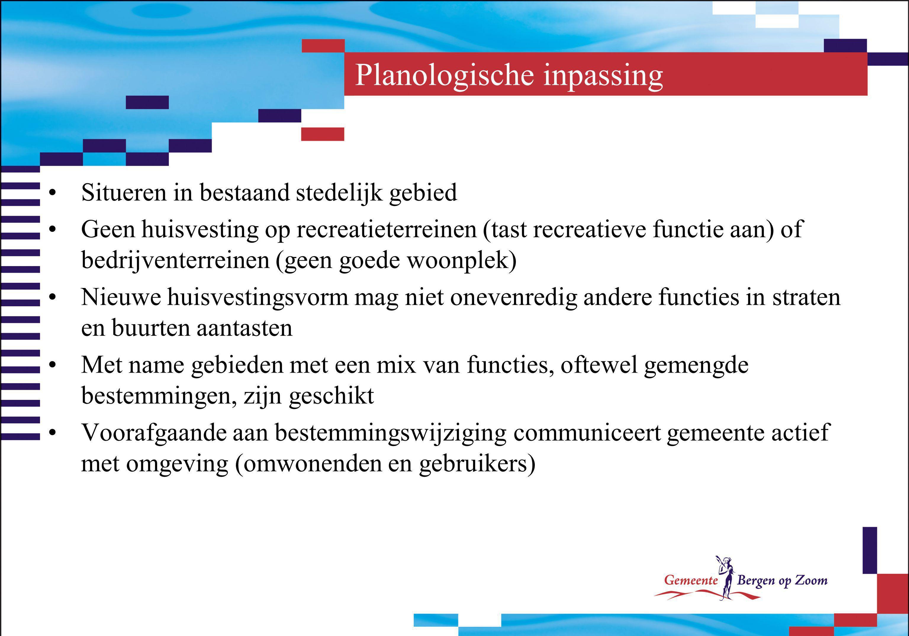 Planologische inpassing