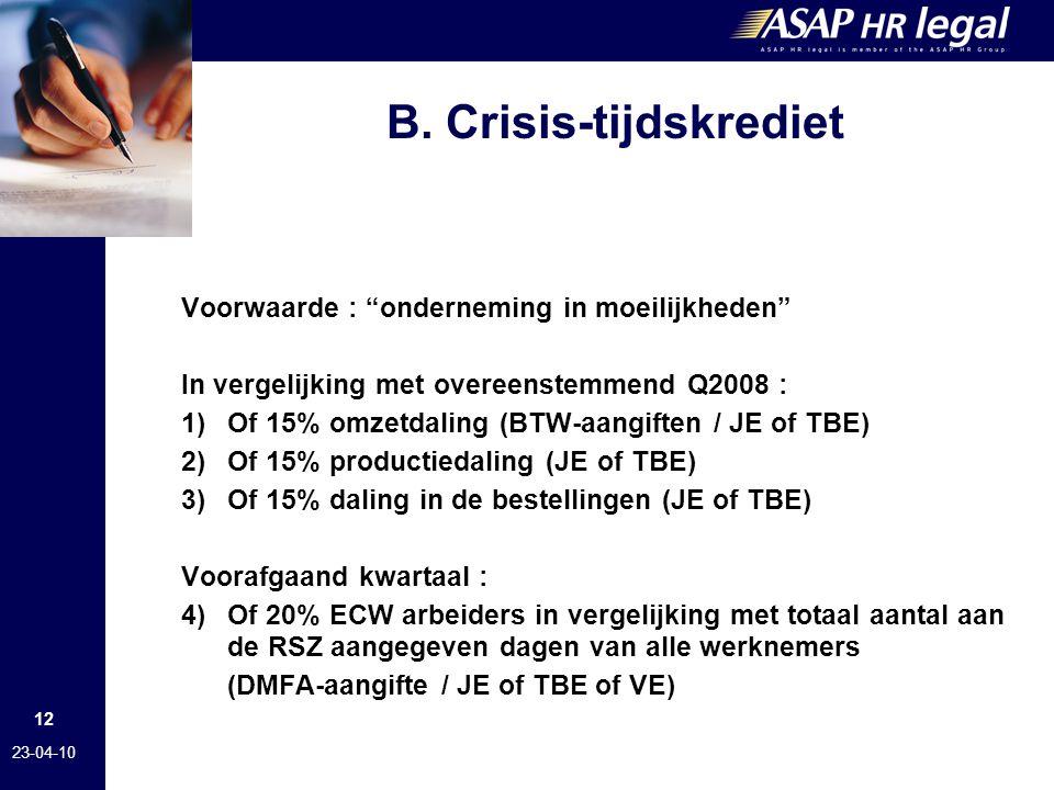 B. Crisis-tijdskrediet