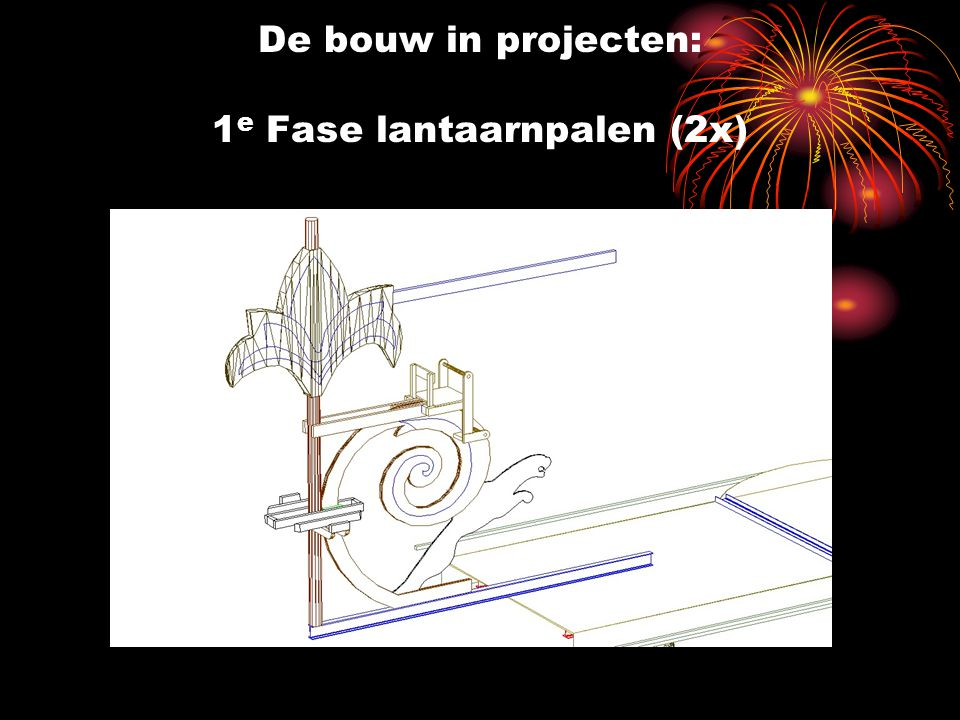 De bouw in projecten: 1e Fase lantaarnpalen (2x)