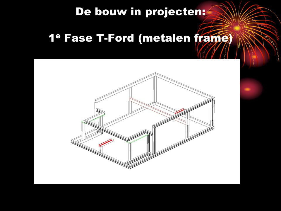 De bouw in projecten: 1e Fase T-Ford (metalen frame)