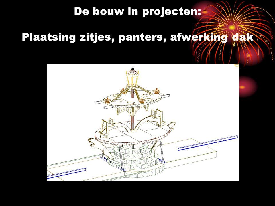 De bouw in projecten: Plaatsing zitjes, panters, afwerking dak