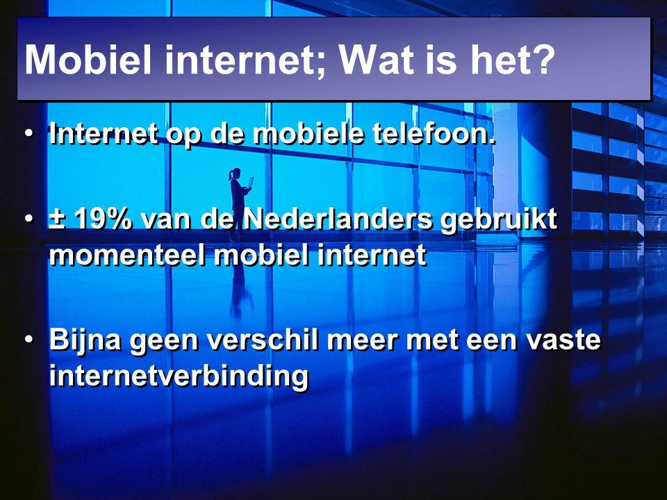 Mobiel internet; Wat is het