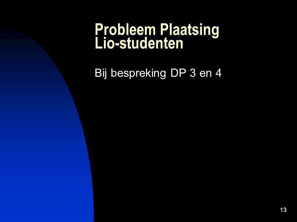 Probleem Plaatsing Lio-studenten