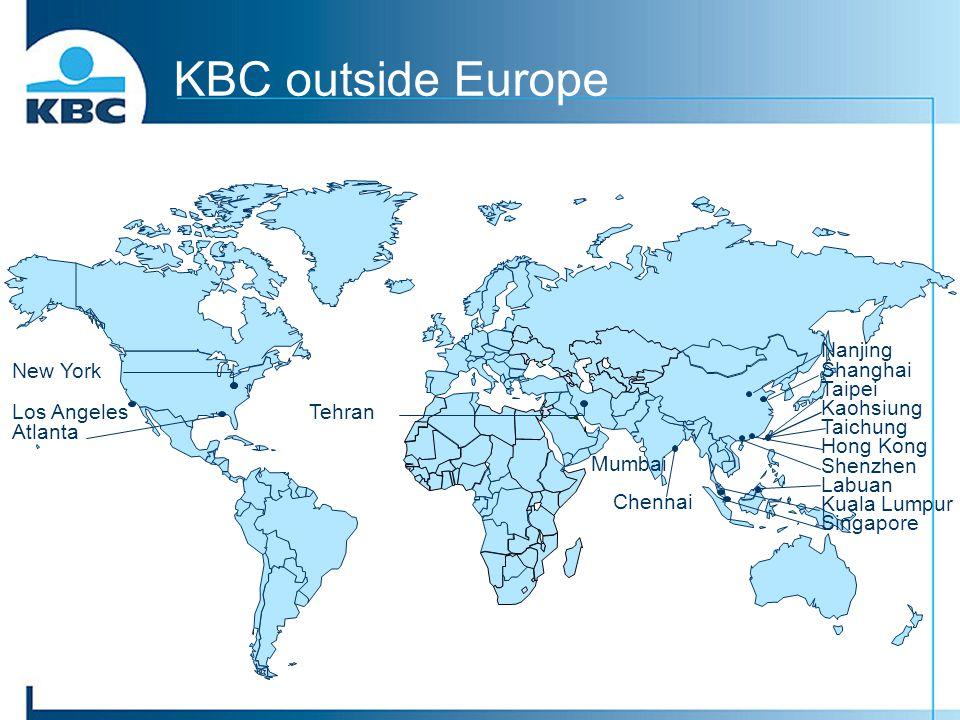 KBC outside Europe Tehran Nanjing Shanghai Taipei Kaohsiung Taichung