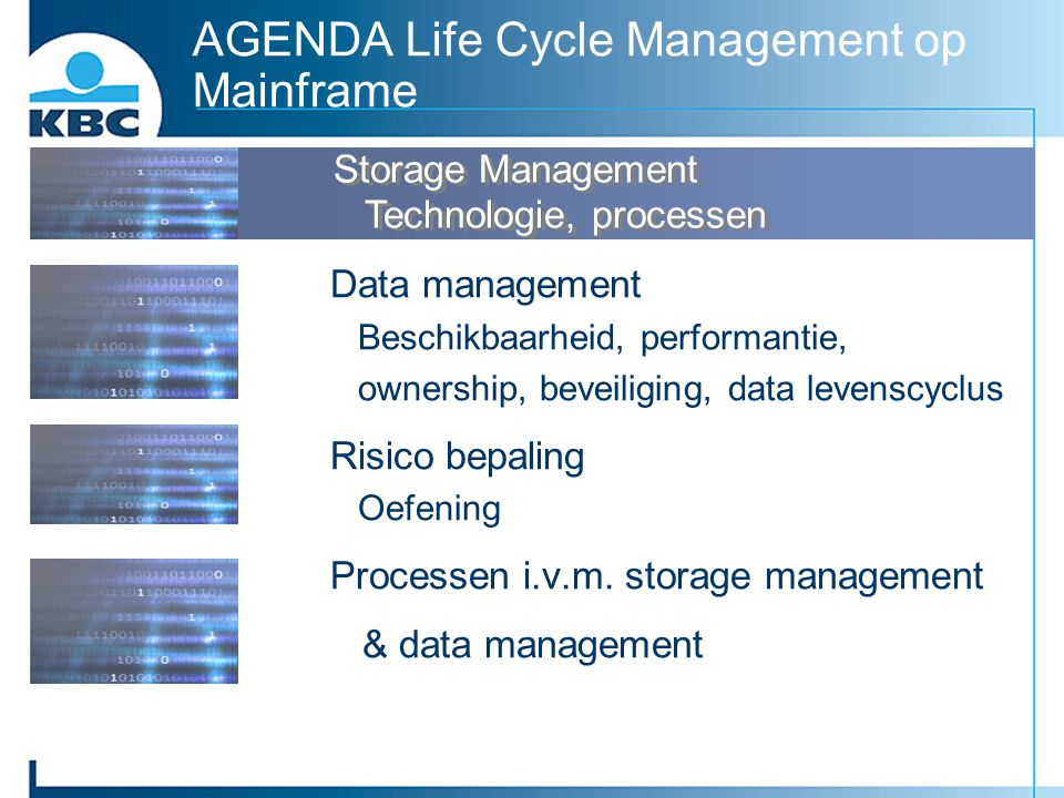 AGENDA Life Cycle Management op Mainframe