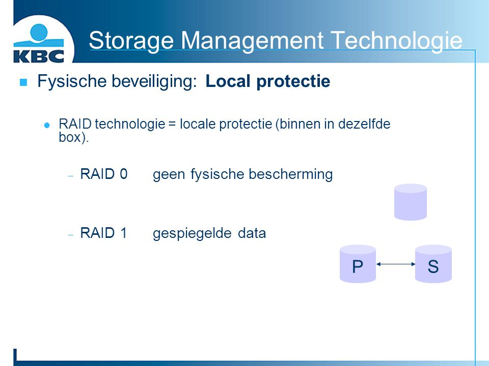 Storage Management Technologie