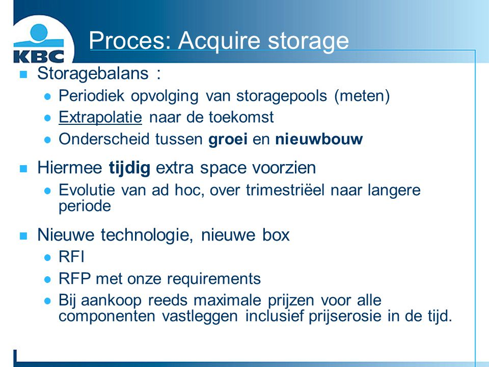 Proces: Acquire storage
