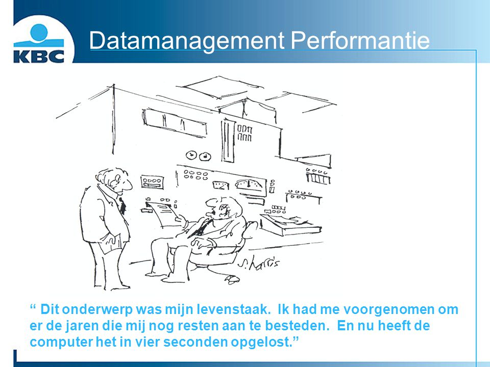 Datamanagement Performantie