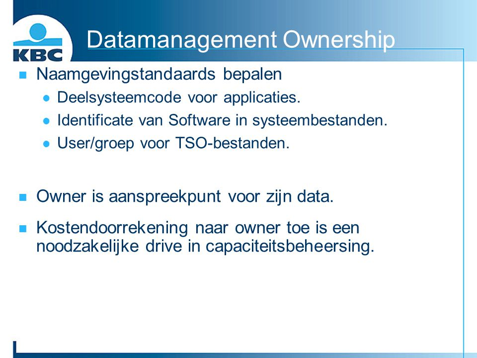 Datamanagement Ownership